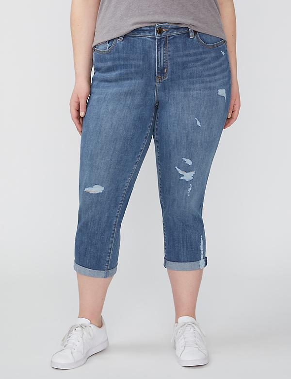 Fast Lane Sustainable Girlfriend Crop Jean - Destructed