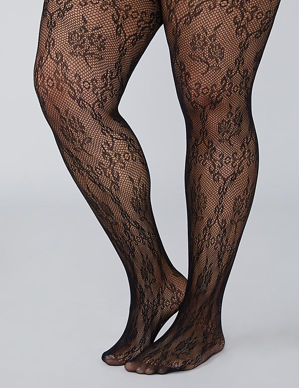 Fishnet Floral Tights