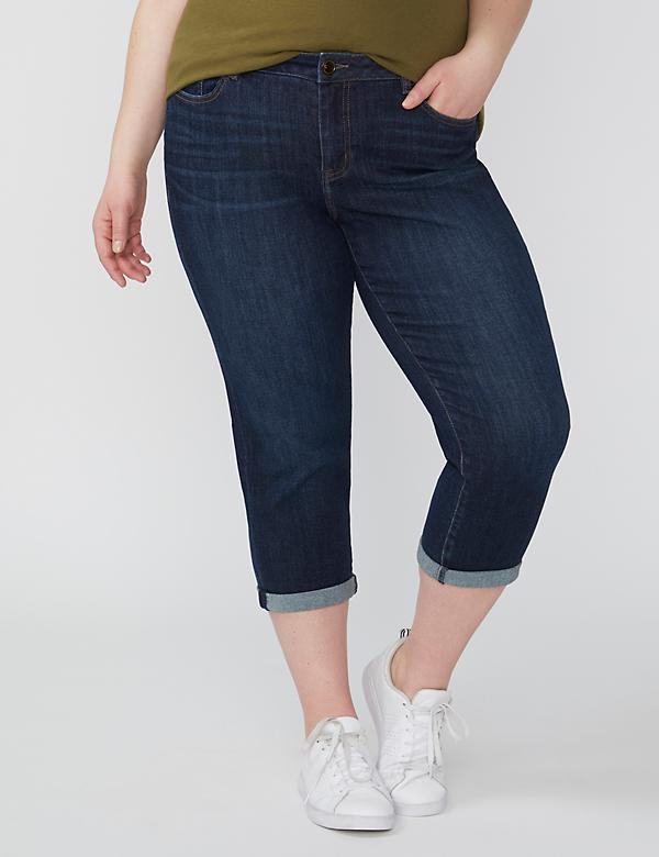 Fast Lane Sustainable Girlfriend Crop Jean - Dark Wash