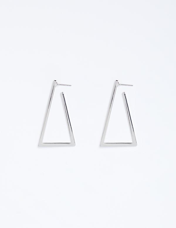 Triangle Hoop Earrings
