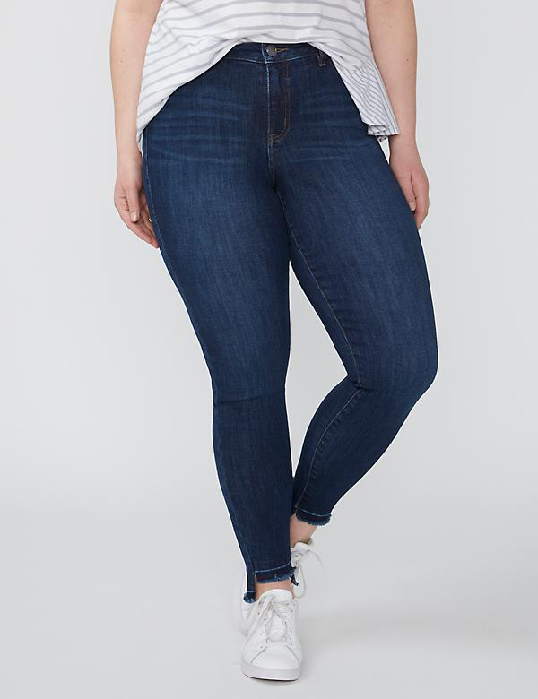 Fast Lane Sustainable Super Stretch Skinny Ankle Jean - Released Step Hem