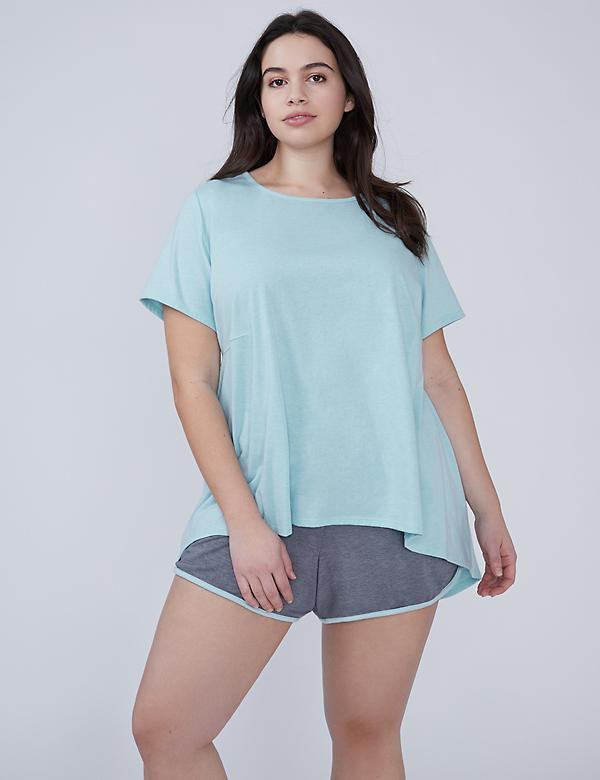 Cotton Peplum Sleep Top