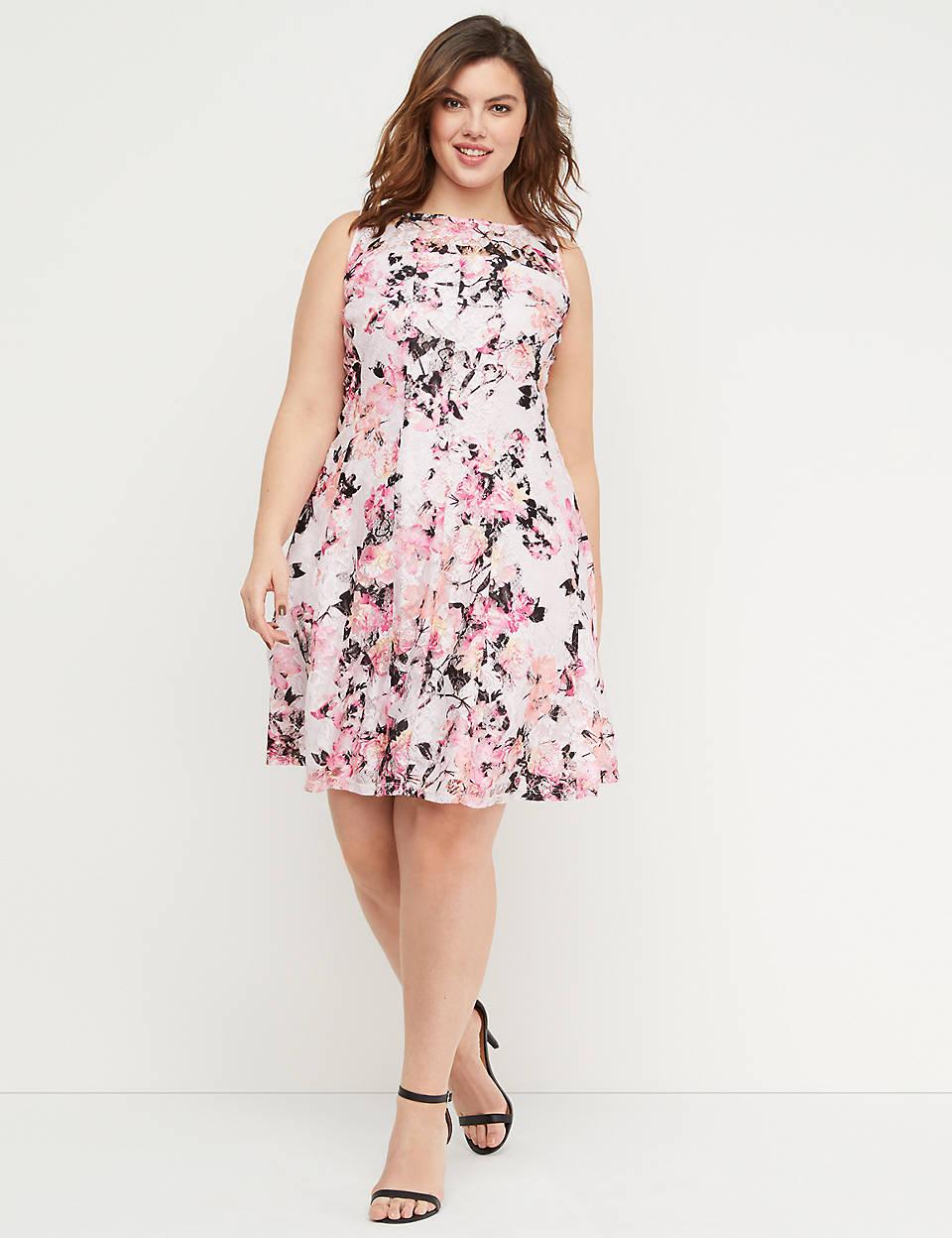 46538dffc4e Floral Lace Fit   Flare Dress