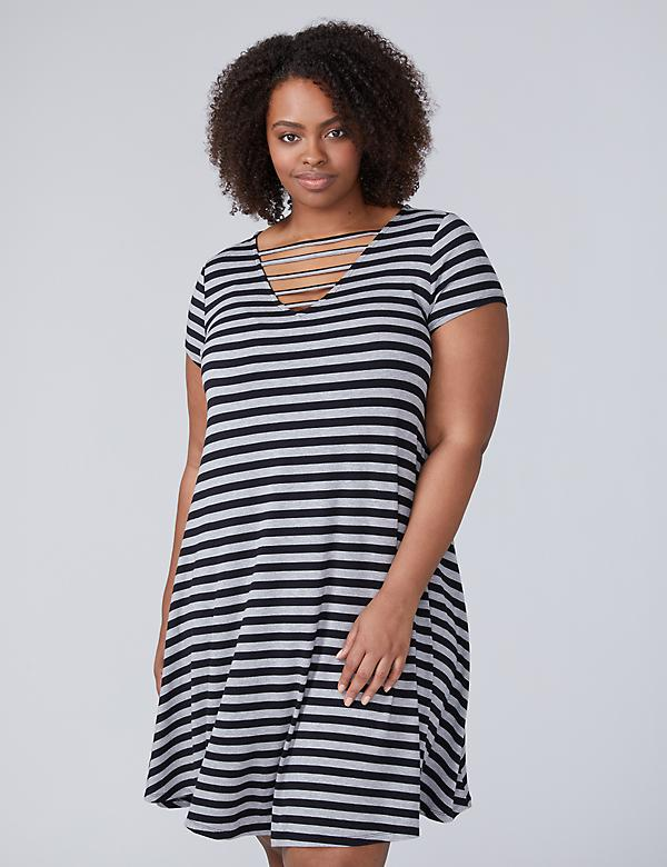 Horizontal Caged T-Shirt Dress