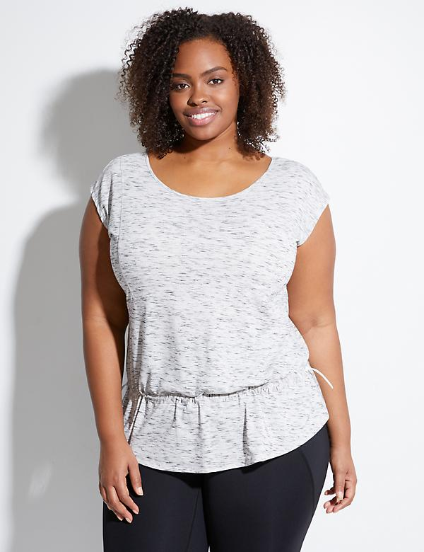 Toggle Waist Active Tee with Cross-Back