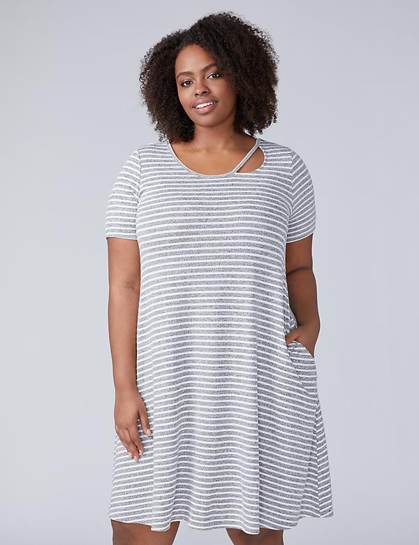 Asymmetrical Spliced T-Shirt Dress