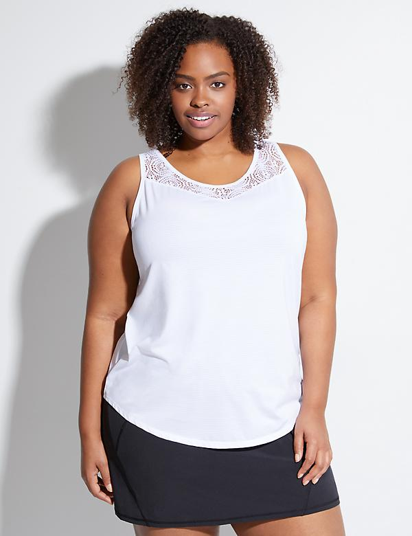 Wicking Active Tank with Lace