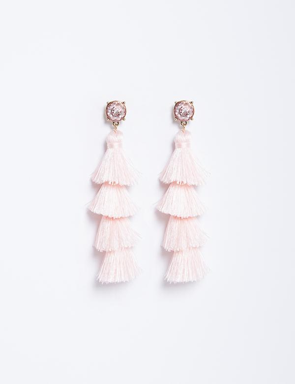 4-Tier Fringe Earrings