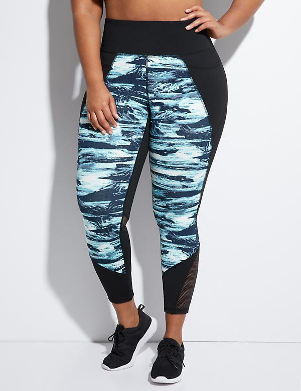Wicking Printed Active 7/8 Legging