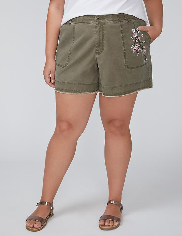 Embroidered Girlfriend Short
