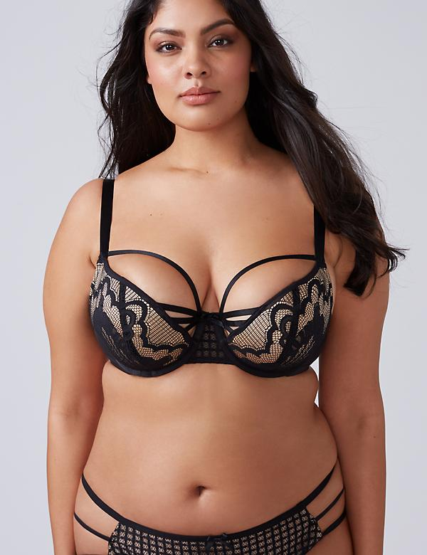 Deco Lace Strappy Balconette Bra