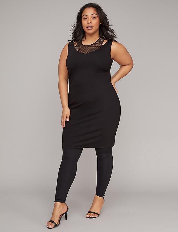 Mesh Cutout Active Midi Dress