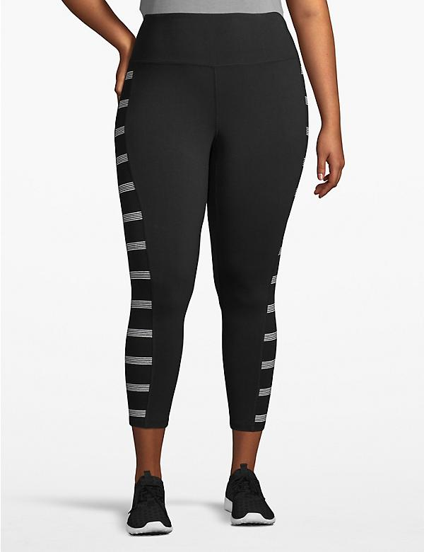 Active Capri Legging - Striped Inset