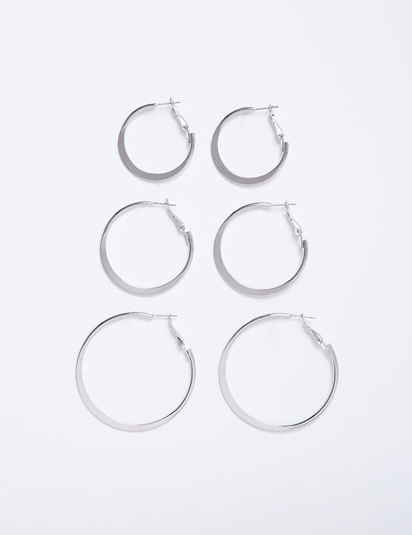 Double Half-Circle Drop Earrings