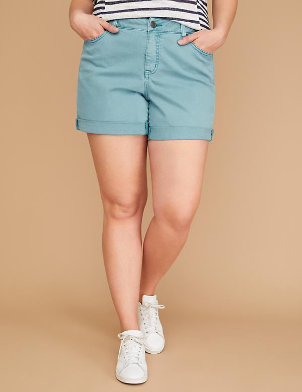 Girlfriend Denim Short - Blue Moon