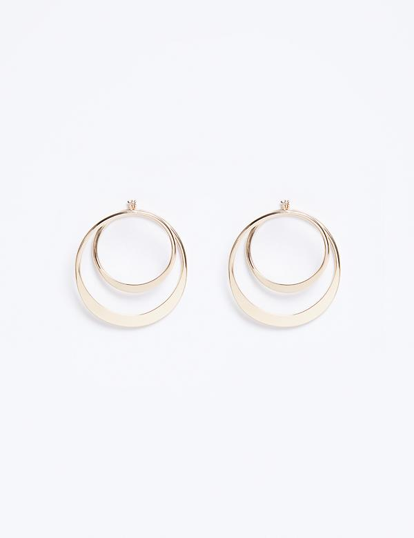Double Hoop Front-to-Back Earrings