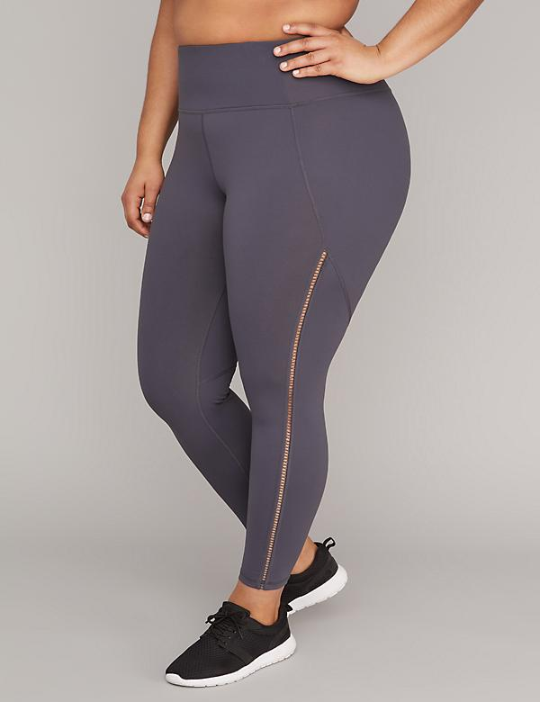 Wicking Open-Stitch Inset Active 7/8 Legging