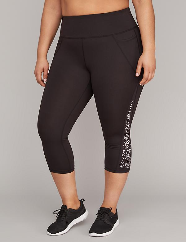 Cooling Lasercut Active Capri Legging