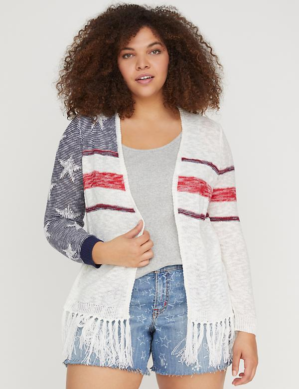 Stars & Stripes Fringed Overpiece