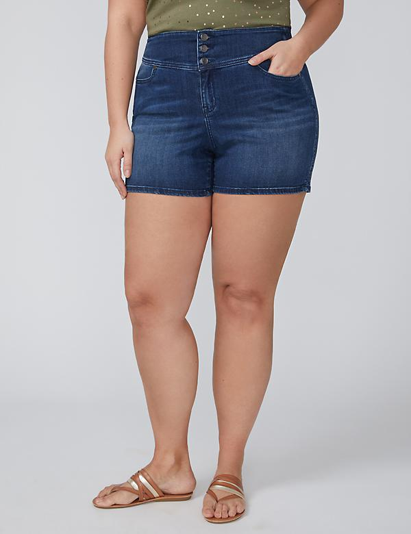 High Rise Denim Short - Medium Wash