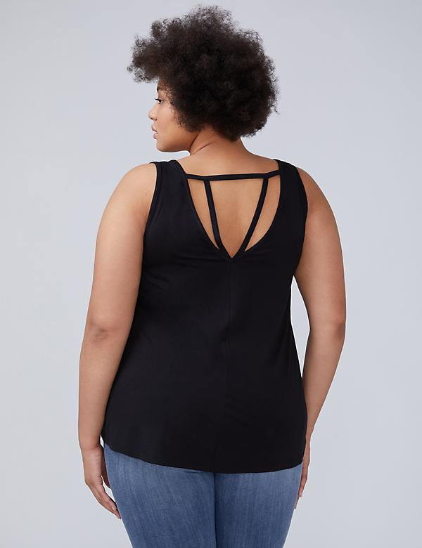 Strappy-Back Sleeveless Top