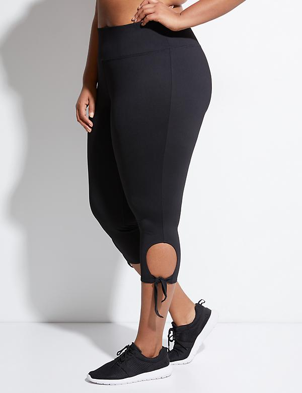 Cooling Active Capri Legging with Tied Hem