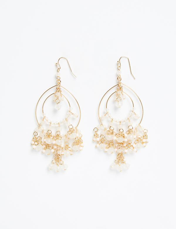 Beaded Multi-Circle Chandelier Earring