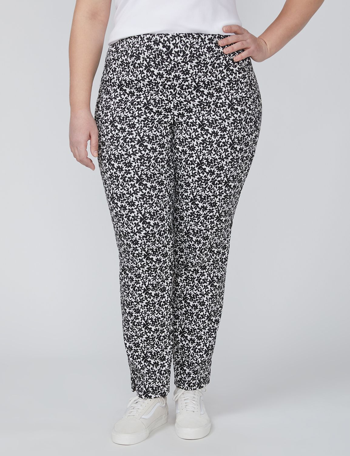 Petite Allie Ankle Pant - Pull-On Floral Jacquard