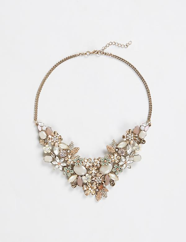 Blush Floral Statement Necklace