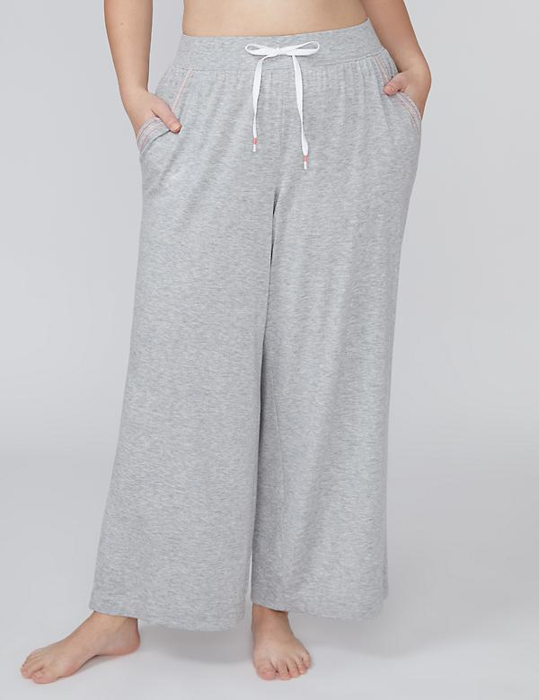French Terry Wide Leg Sleep Pant