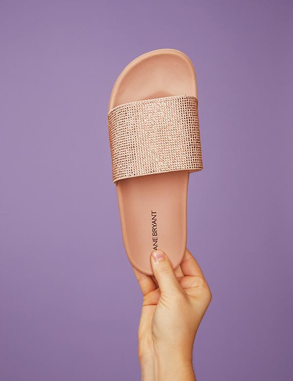 Embellished Pool Slide Sandal