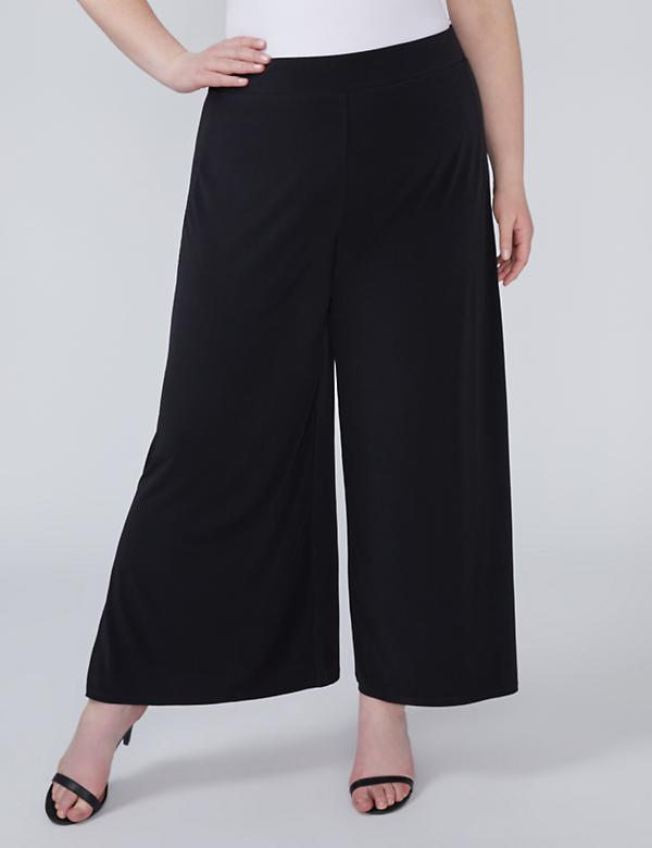 Wide Leg Pant with Split Hem