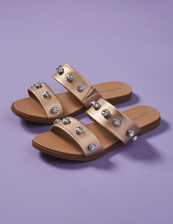 Embellished 2-Band Sandal