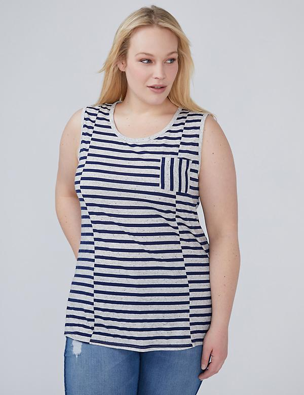Stripe-Mix Pocket Tank