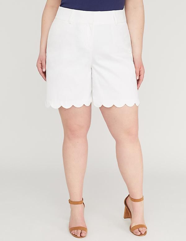 Allie Modern Stretch Short - Scallop Hem