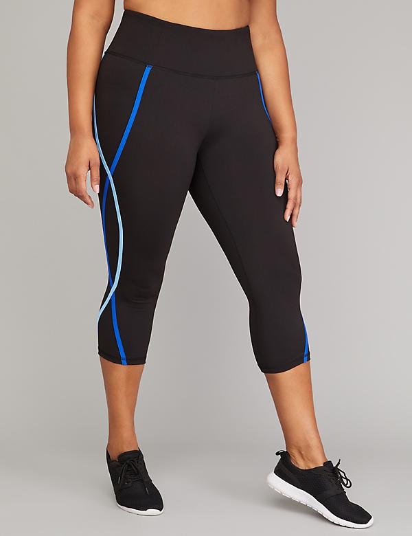 Wicking Active Capri Legging - Colorblock Binding