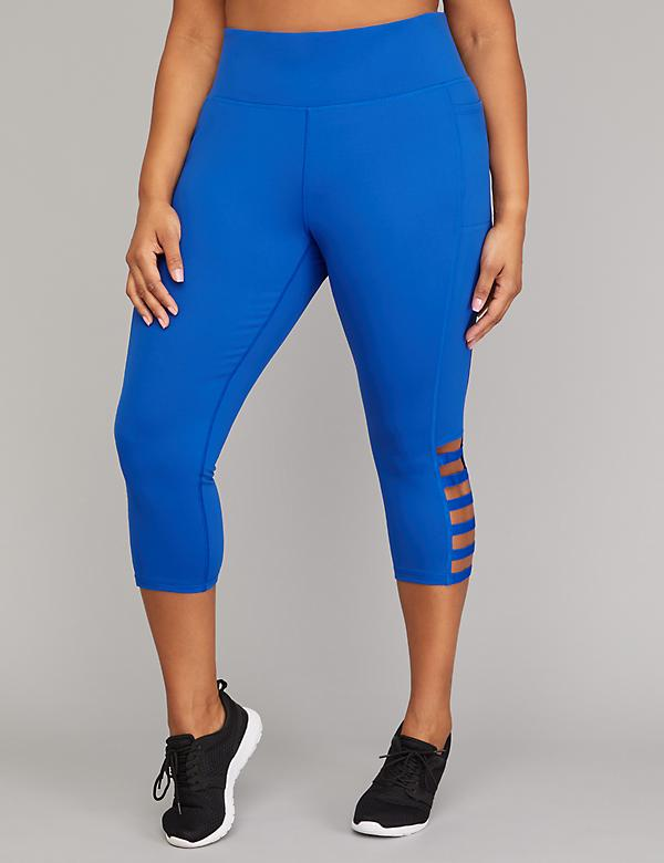 Cooling Active Capri Legging - Strappy Hem