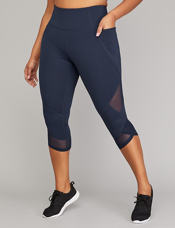 Cooling Active Capri Legging - Wrapped Mesh Hem