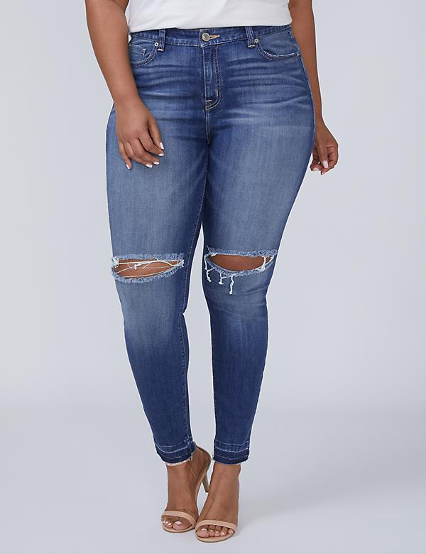 Re/Made in L.A. Skinny Jean – Released Hem