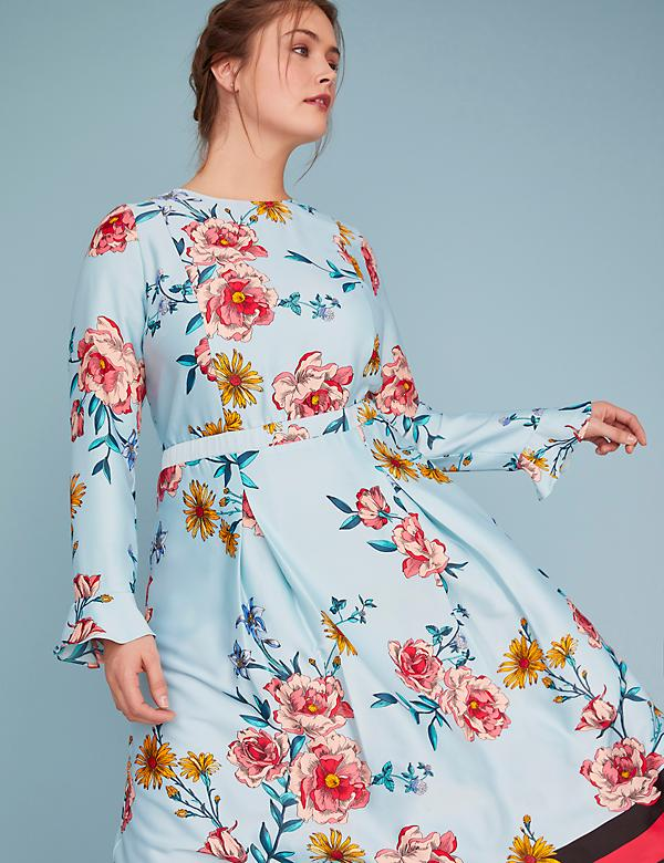 Fast Lane Floral Midi Dress