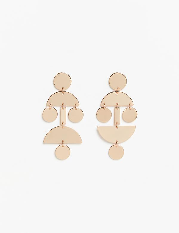 Geo Linear Drop Earrings
