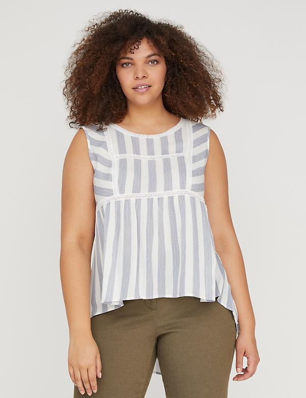 Striped Babydoll Tank