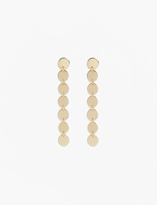 Metal Coin Drop Earrings