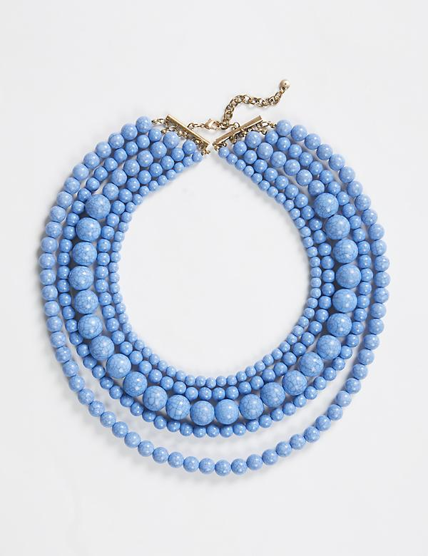 Crackle Bead Statement Necklace