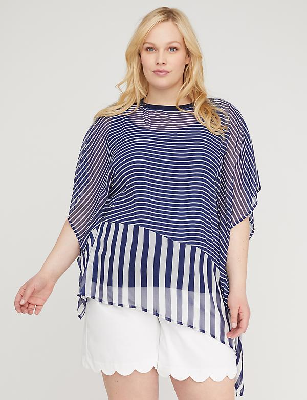 Stripe Mix Flutter Top