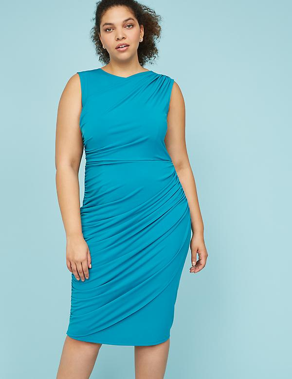 Built-In Shapewear Ruched Sheath Dress