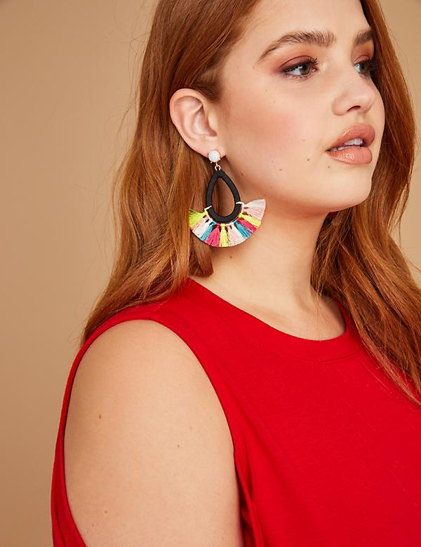 Teardrop Fringe Earrings
