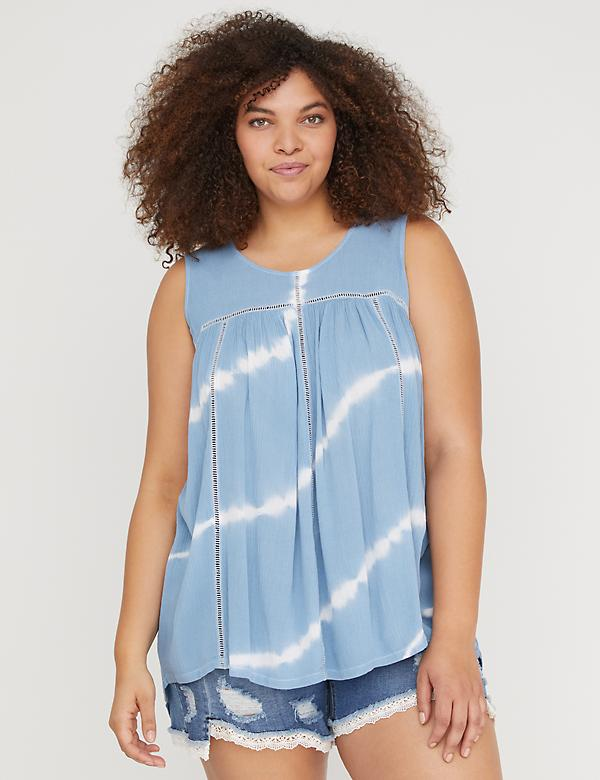 Tie-Dye Ladder Stitch Tank