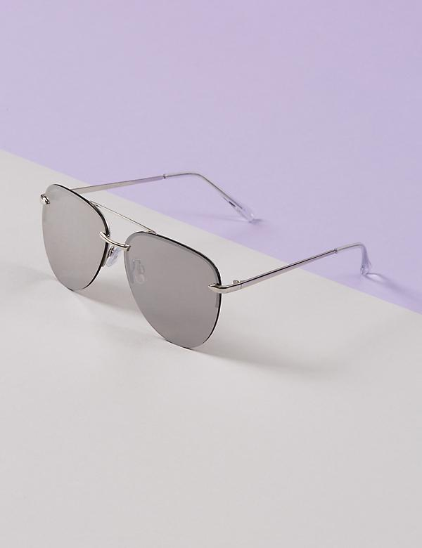 Frameless Aviator Sunglasses