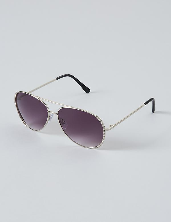 Pave Aviator Sunglasses